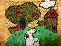 小豆豆同样也可以画出美丽的画来
